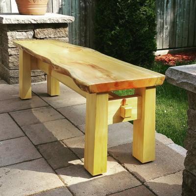 Outdoor Bench in Pine