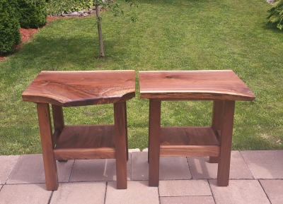 Live-edge End Tables