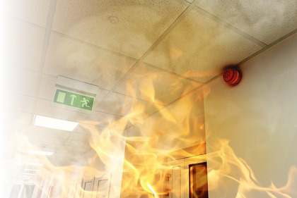 Fire Alarm Sounder In Fire