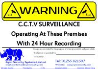 Ryno CCTV Sign Clacton Colchester Ipswich