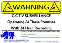 Ryno Online Installed Price NSI SSIAB Security Systems CCTV Burglar Intruder Alarms Sign