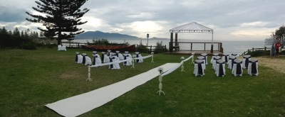 Outdoor wedding in Bermagui