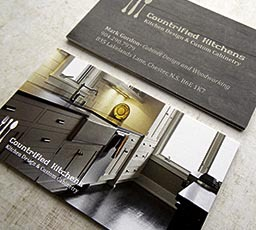 Full colour premium business cards for Countrified Kitchens