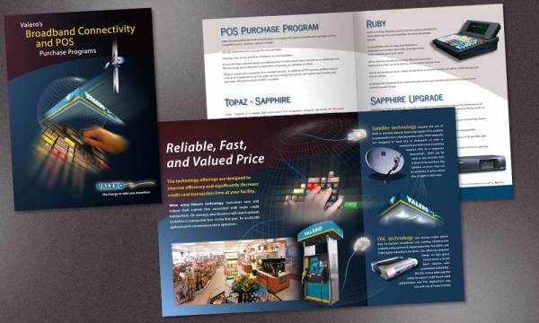Valero POS brochure designed by Luis Ramirez