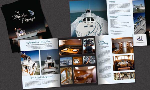 The Welded Boat brochure designed by Luis Ramiez