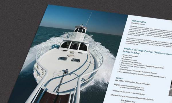 The Welded Boat brochure designed by Luis Ramirez