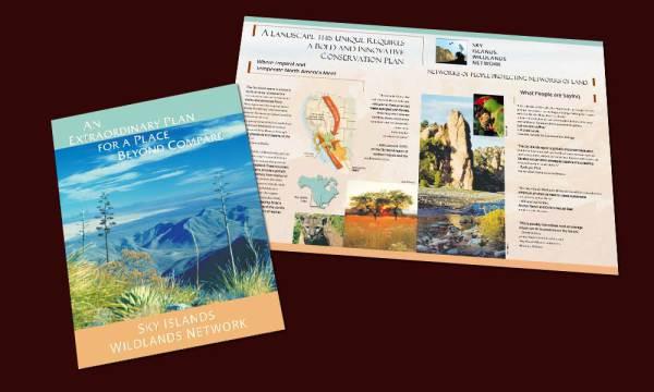 Sky Islands Wildlands Network marketing brochure designed by Luis Ramirez