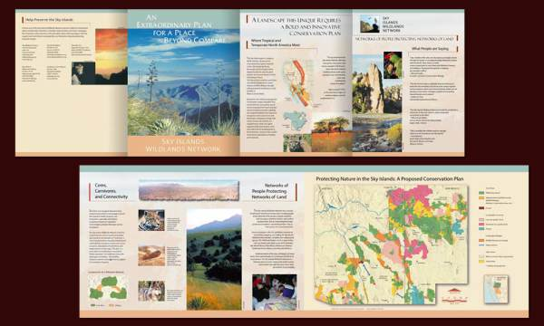 Sky Islands Wildlands Network marketing brochure full view