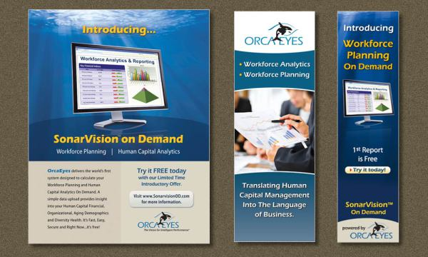 Orcaeyes marketing material designed by Luis Ramirez