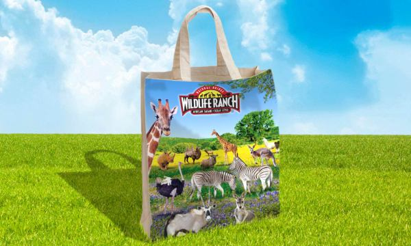 Natural Bridge Wildlife Ranch tote bag designed by Luis Ramirez