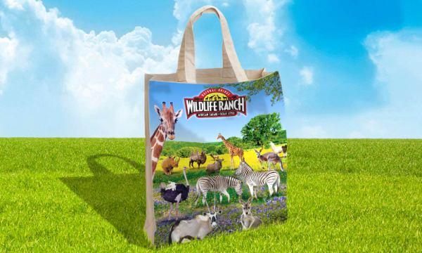 Natural Bridge Wildlife Ranch tote bag designed by Luis Ramirez