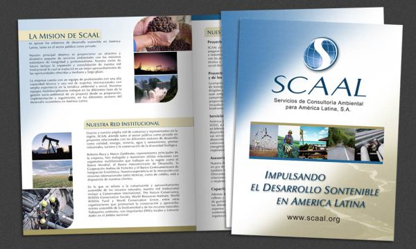 Scaal brochure designed by Luis Ramirez