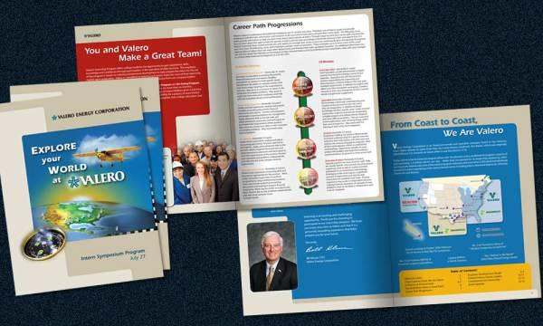Valero Symposium Brochure designed by Luis Ramirez