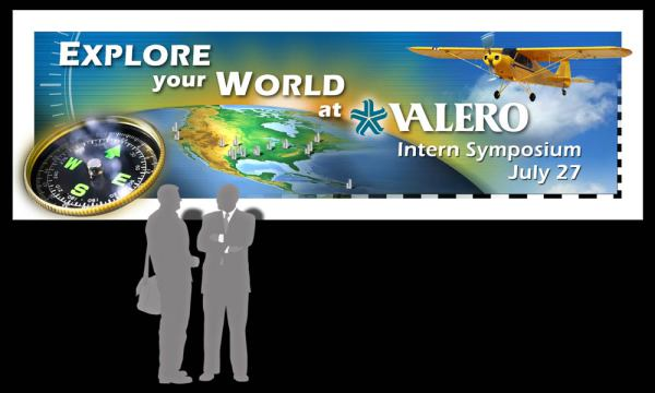 Valero Symposium ain banner designed by luis ramirez