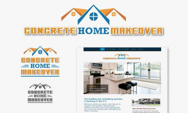 concrete-home-makeover logo designed by Luis Ramirez