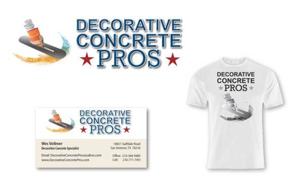 decorative-concrete-pros logo designed by luis ramirez