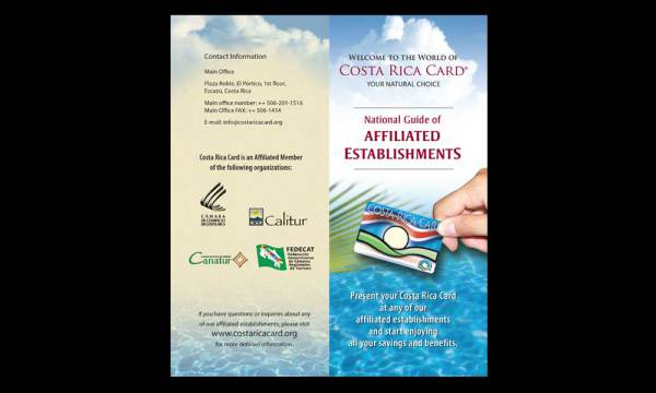Costa Rica Card Customer Welcome Brochure designed by luis ramirez