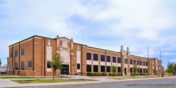 photo of altus high school building in altus oklahoma - by luis ramirez web print photography