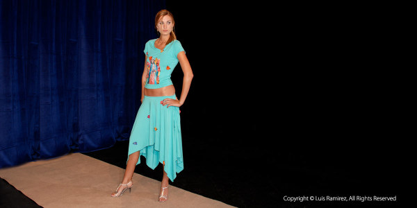 Photo of model showing clothing from Etni-K Top Collection-San Antonio, Texas-by luis ramirez web print photography