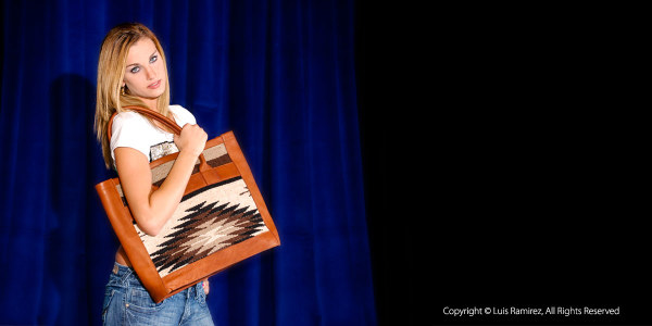 Photo of model showing a handbag from Anna Rogil-San Antonio, Texas-by luis ramirez web print photography
