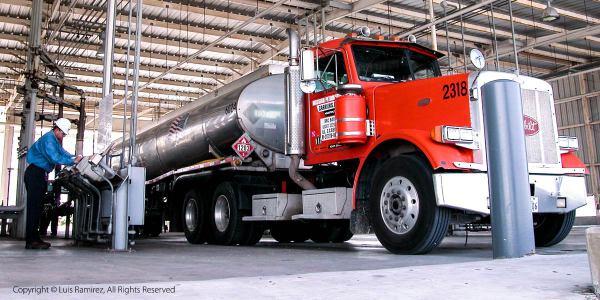 Gas truck at a valero terminal - harlingen texas - luis ramirez web print photography