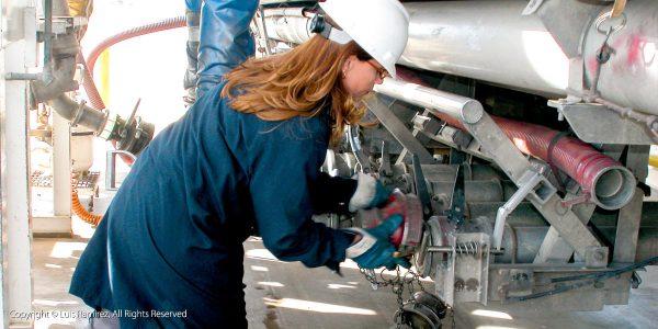 worker at a valero terminal - harlingen texas - luis ramirez web print photography
