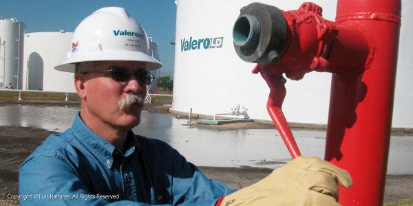 fuel tanks at a valero terminal - harlingen texas - luis ramirez web print photography