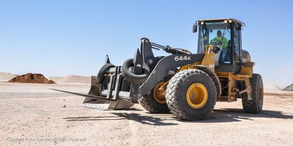 tractor at site - midland texas - by luis ramirez web print photography