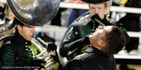 photo of reagan high school martial band during the filming of documentary film in san antonio texas - by luis ramirez web print photography