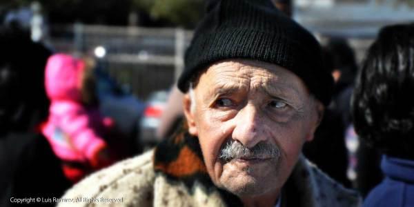 senior man at food bank drive - san antonio texas - by luis ramirez web print photography