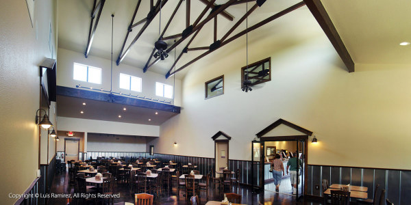 Interior view of the Safari Camp Grill Restaurant building at the Natural Bridge Wildlife Ranch  - by Luis Ramirez web print photography