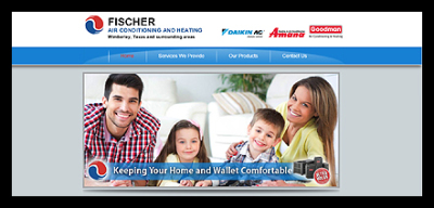 Fischer HVAC website screen shot