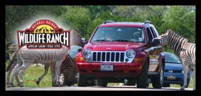 Natural Bridge Wildlife Ranch Texas website's homepage screen shot