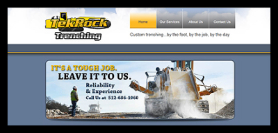 Tekrock Trenching website screen shot