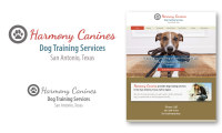 Logo of HArmony Canines, dog training services in San Antonio, Taxas. Luis Ramirez web design, branding and photography