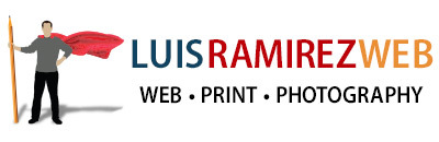 Luis Ramirez logo, it links to the homepage