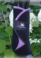 purple horse tack, pegasus airboots, violet horse tack