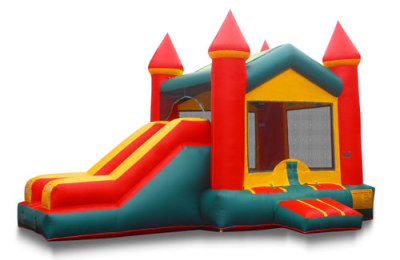 Bounce castle with side slide
