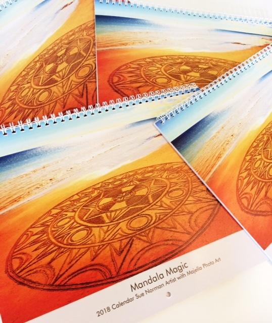 beach mandala art calandars
