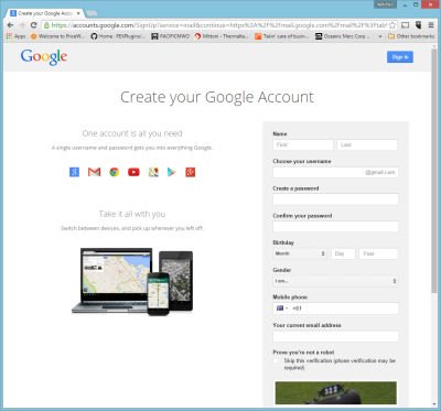 Online Presence Guide - Google Account