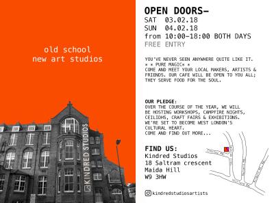 Open studios this weekend!