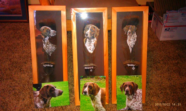 German Shorthairs on tail feathers!