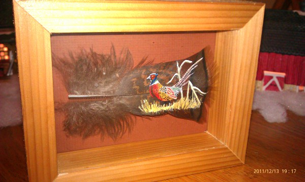 small pheasant feather for Pheasants Forever Banquet