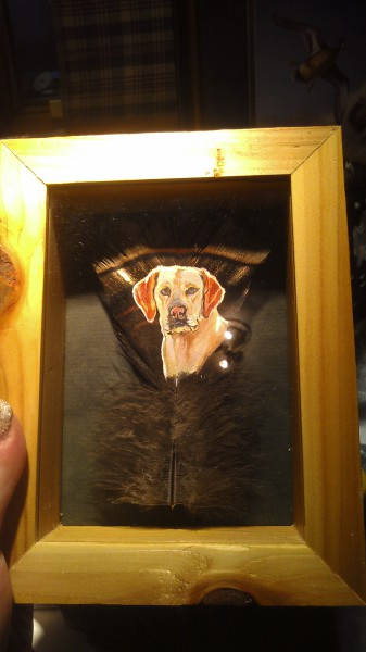 mini lab covert painting framed example