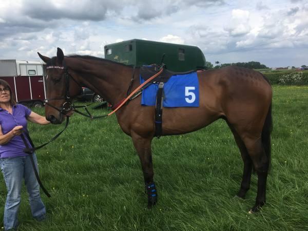 Lightonthemountain before winning at Kingston Blount