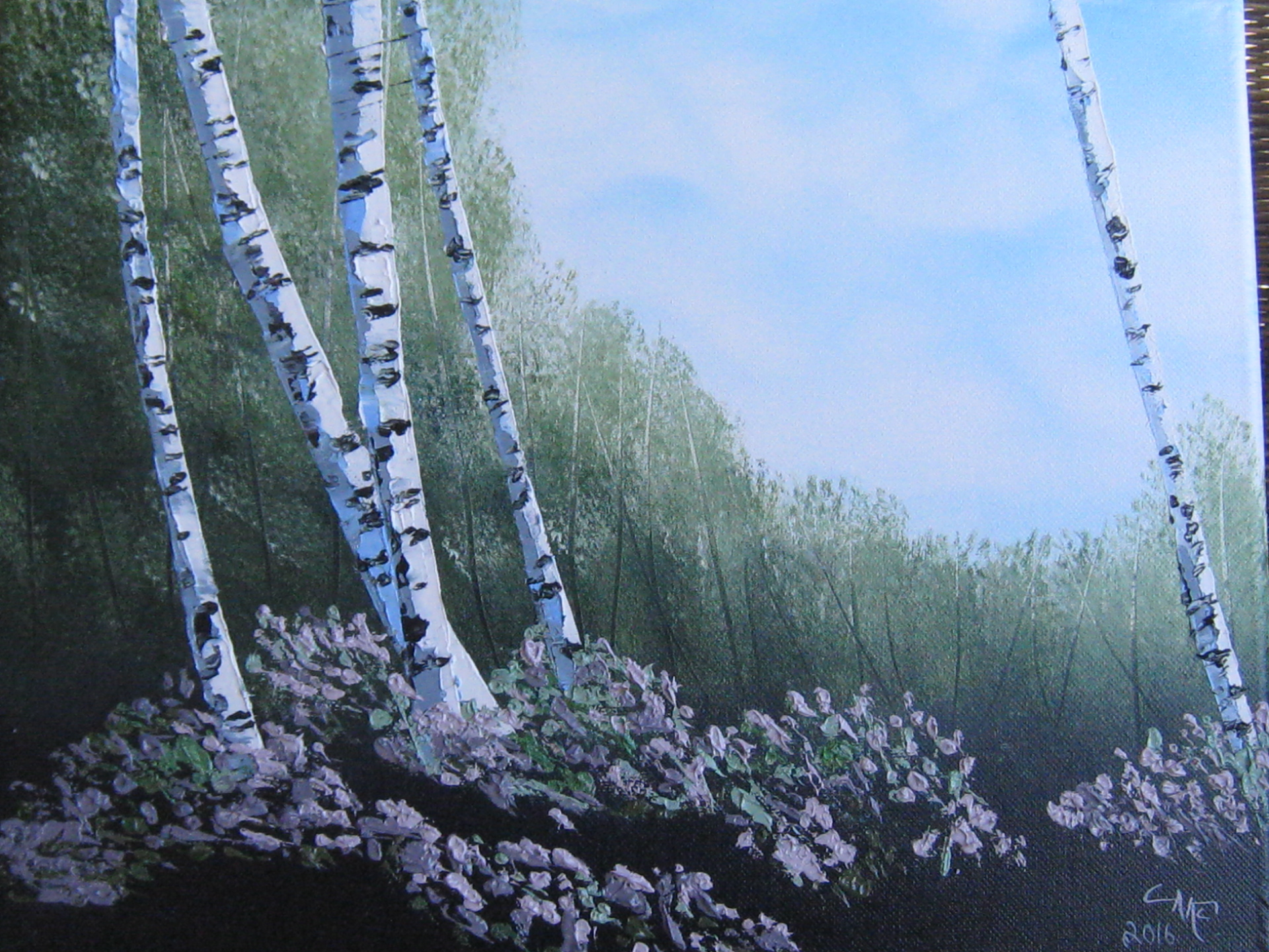 """Summer Birches"""