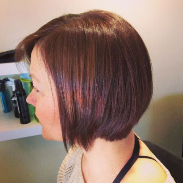 Rich Brunette Soft layered Bob