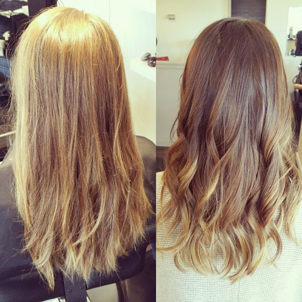 Before and After Subtle Ombre