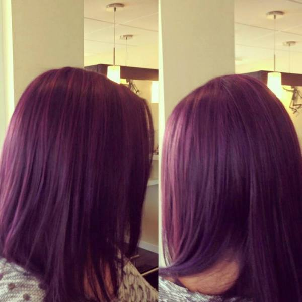 Vibrant Plum Hair Colour