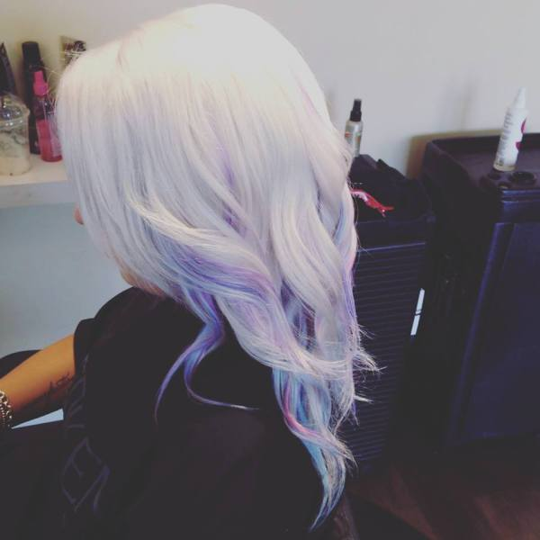Platinum with Ribbons of Pastels